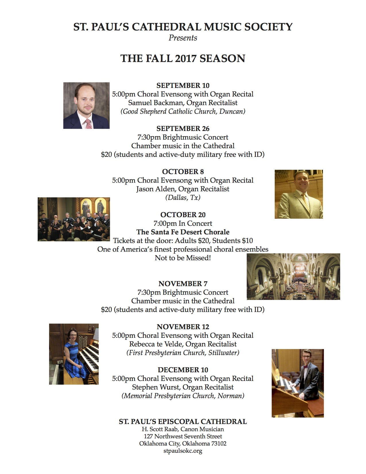 Fall Music Events 2017