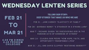 Lenten Dinners and Program 2018