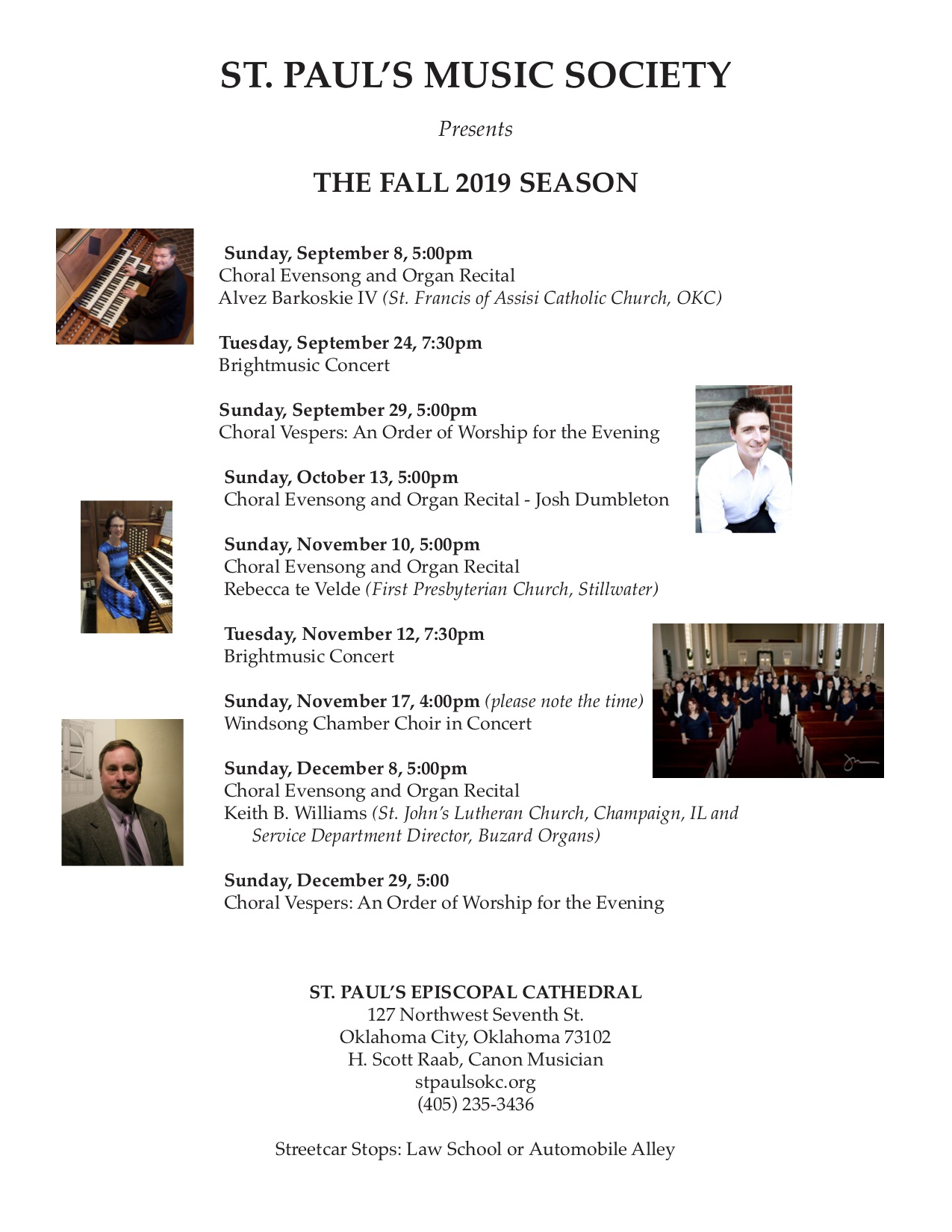 Fall 2019 Music Events