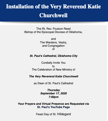 Installation of The Very Reverend Katie Churchwell