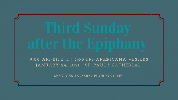 third Sunday Epiphany